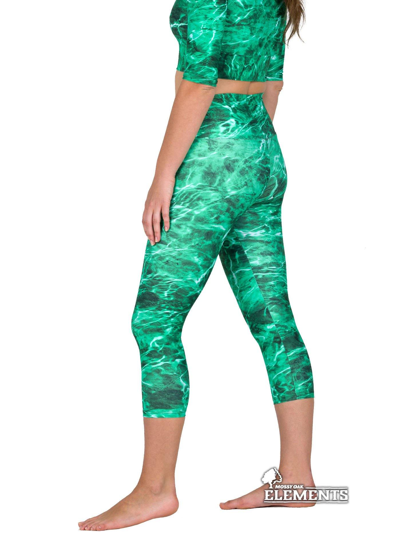 Apsara Leggings High Waist Capri, Mossy Oak Elements Largemouth