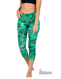 Apsara Leggings Low Waist Capri, Mossy Oak Elements Largemouth - Apsara Style