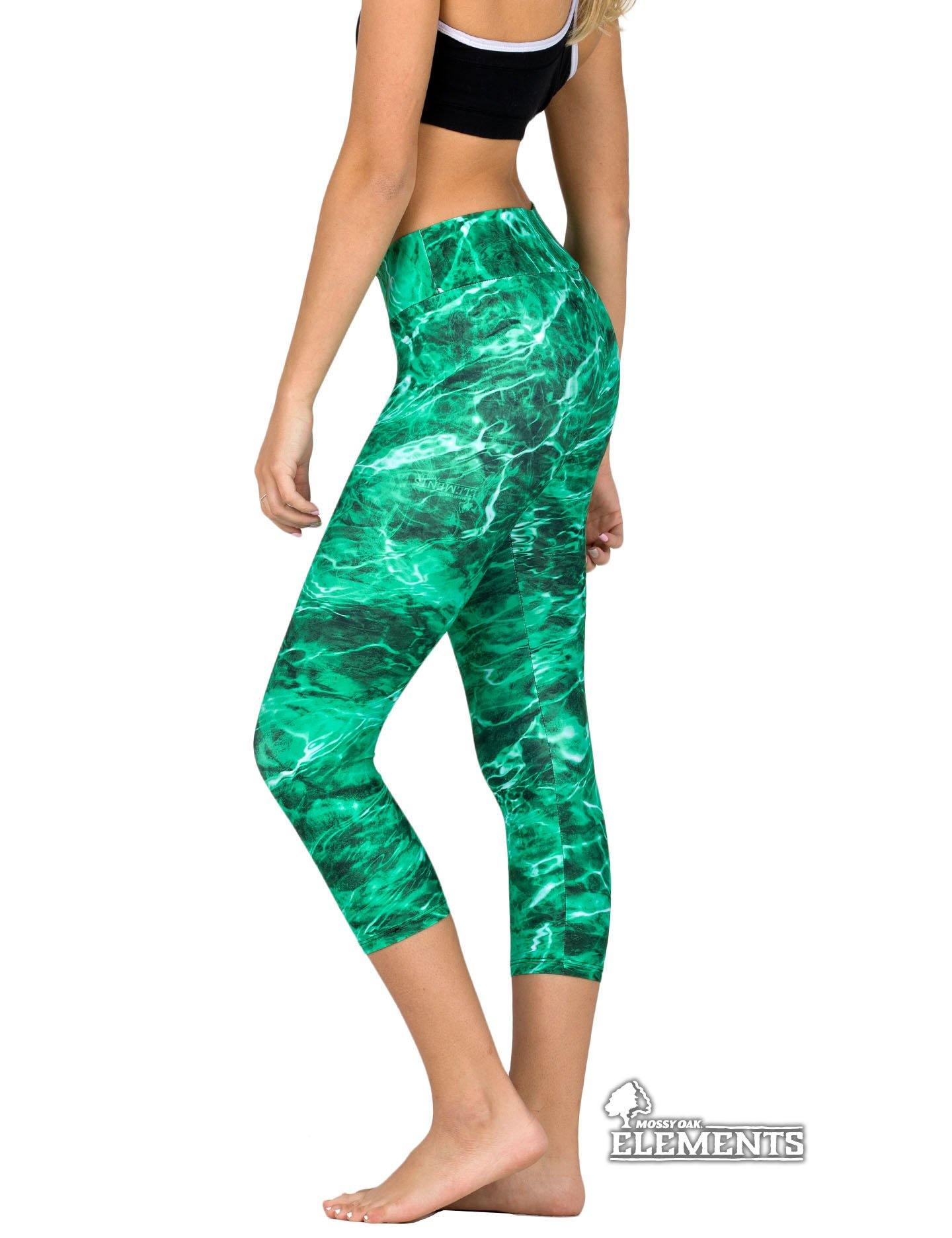 Apsara Leggings Low Waist Capri, Mossy Oak Elements Largemouth