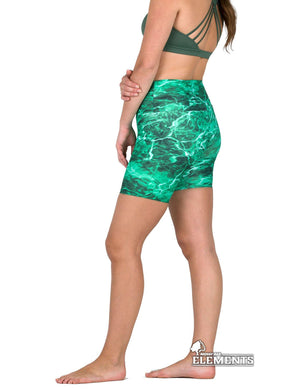 Apsara Shorts High Waist, Mossy Oak Elements Largemouth
