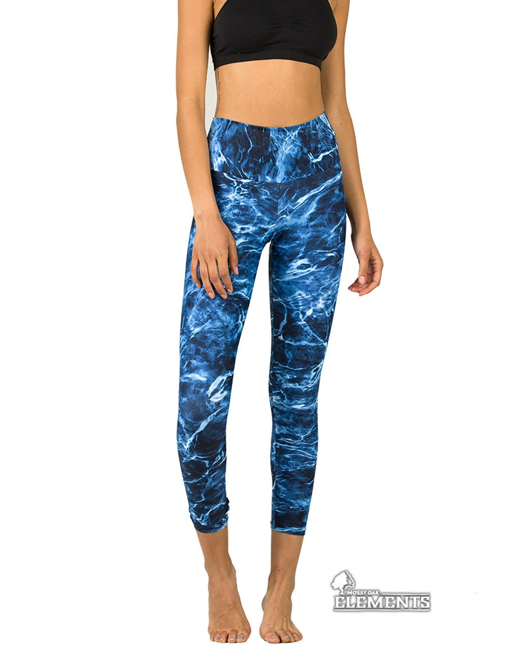 Apsara Leggings High Waist Cropped, Mossy Oak Elements Marlin