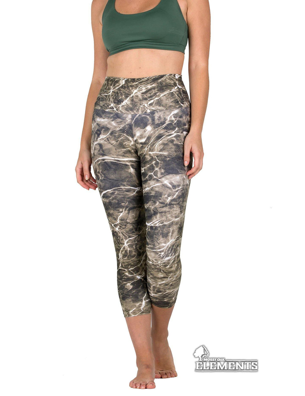 Apsara Leggings High Waist Capri, Mossy Oak Elements Sandcrab