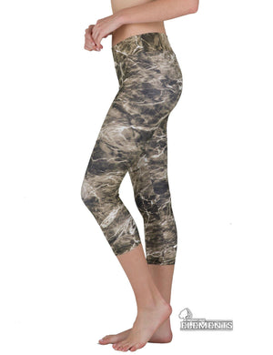 Apsara Leggings Low Waist Capri, Mossy Oak Elements Bronzeback