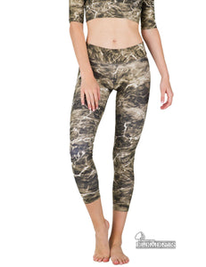 Apsara Leggings Low Waist Cropped, Mossy Oak Elements Bronzeback