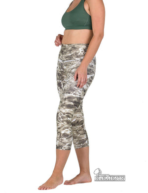 Apsara Leggings High Waist Capri, Mossy Oak Elements Bronzeback