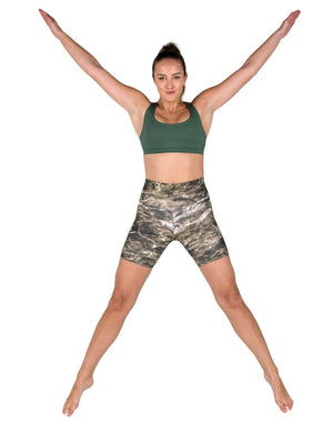 Apsara Shorts High Waist, Mossy Oak Elements Bronzeback