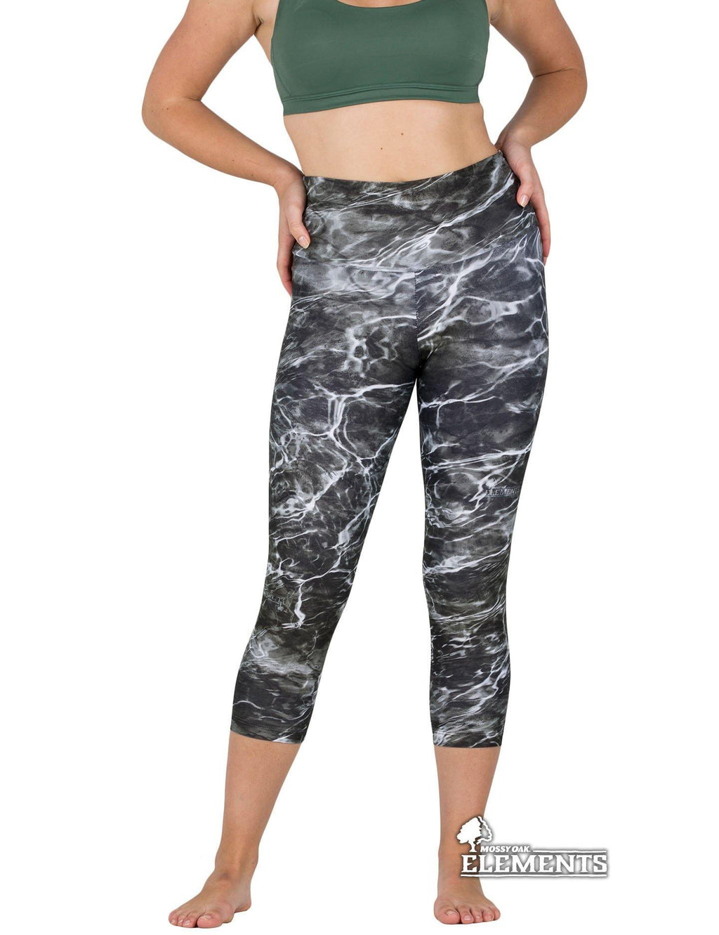 Apsara Leggings High Waist Capri, Mossy Oak Elements Blacktip