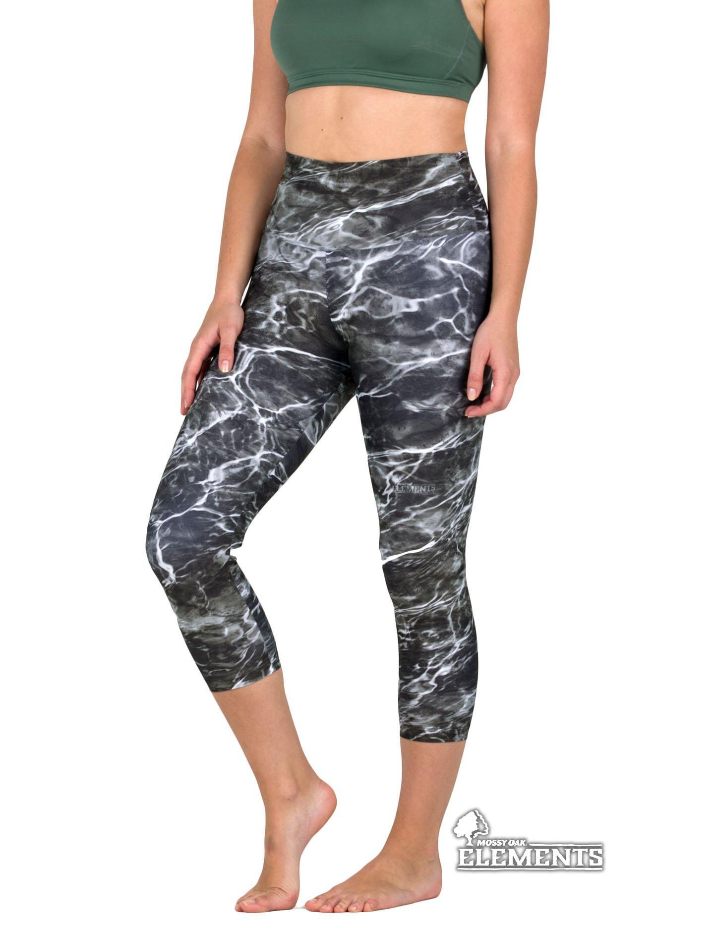 Apsara Leggings High Waist Capri, Mossy Oak Elements Blacktip - Apsara Style