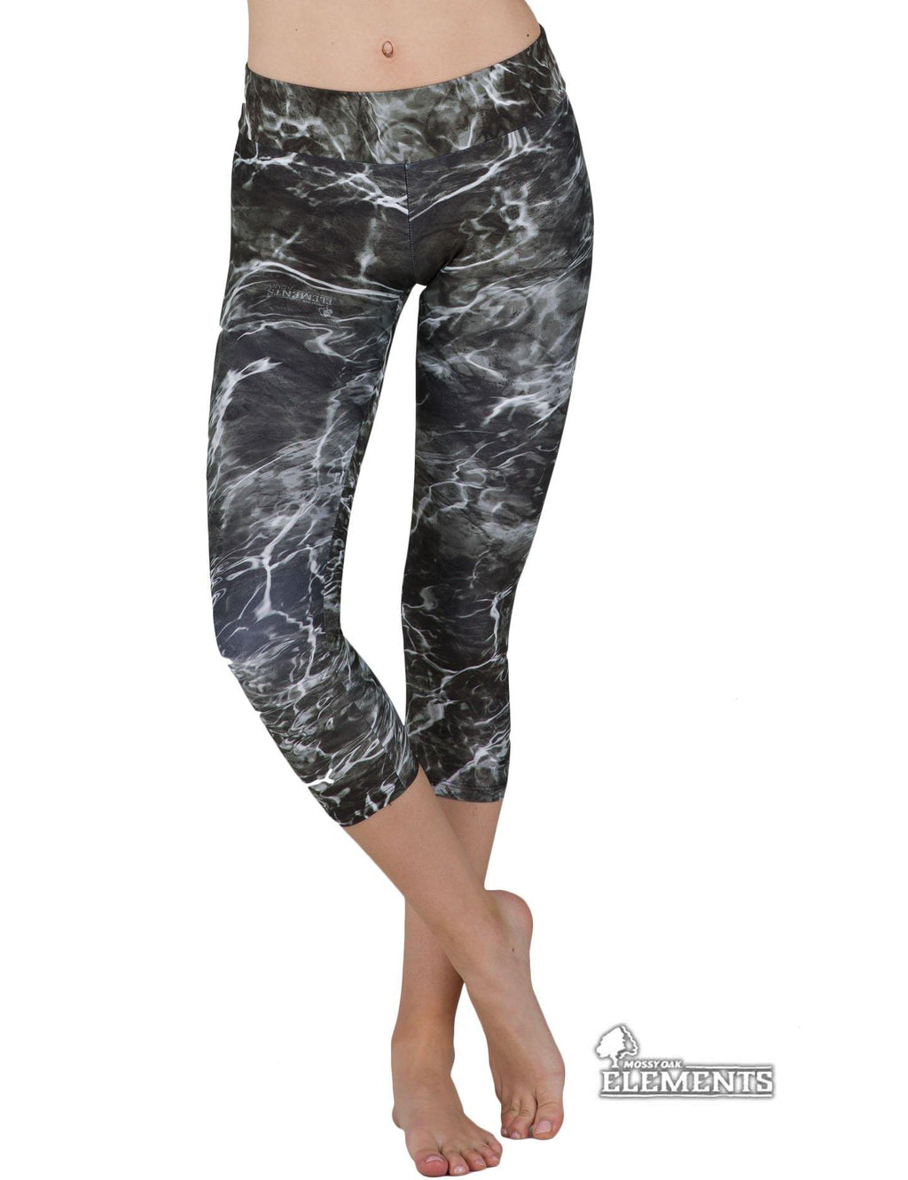 Apsara Leggings Low Waist Capri, Mossy Oak Elements Blacktip