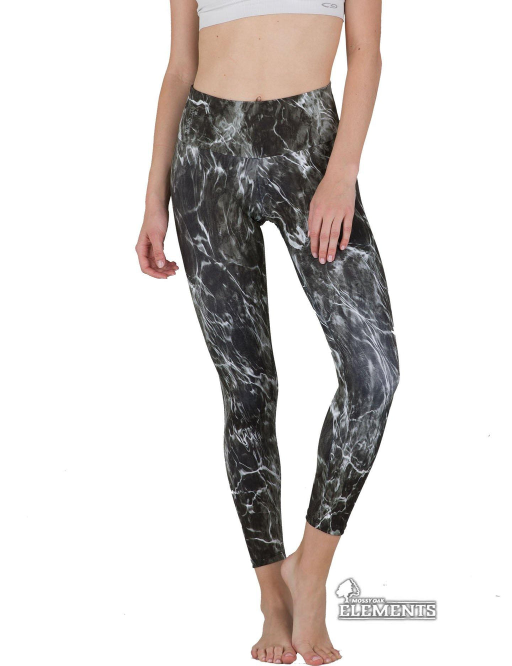 Apsara Leggings High Waist Cropped, Mossy Oak Elements Blacktip