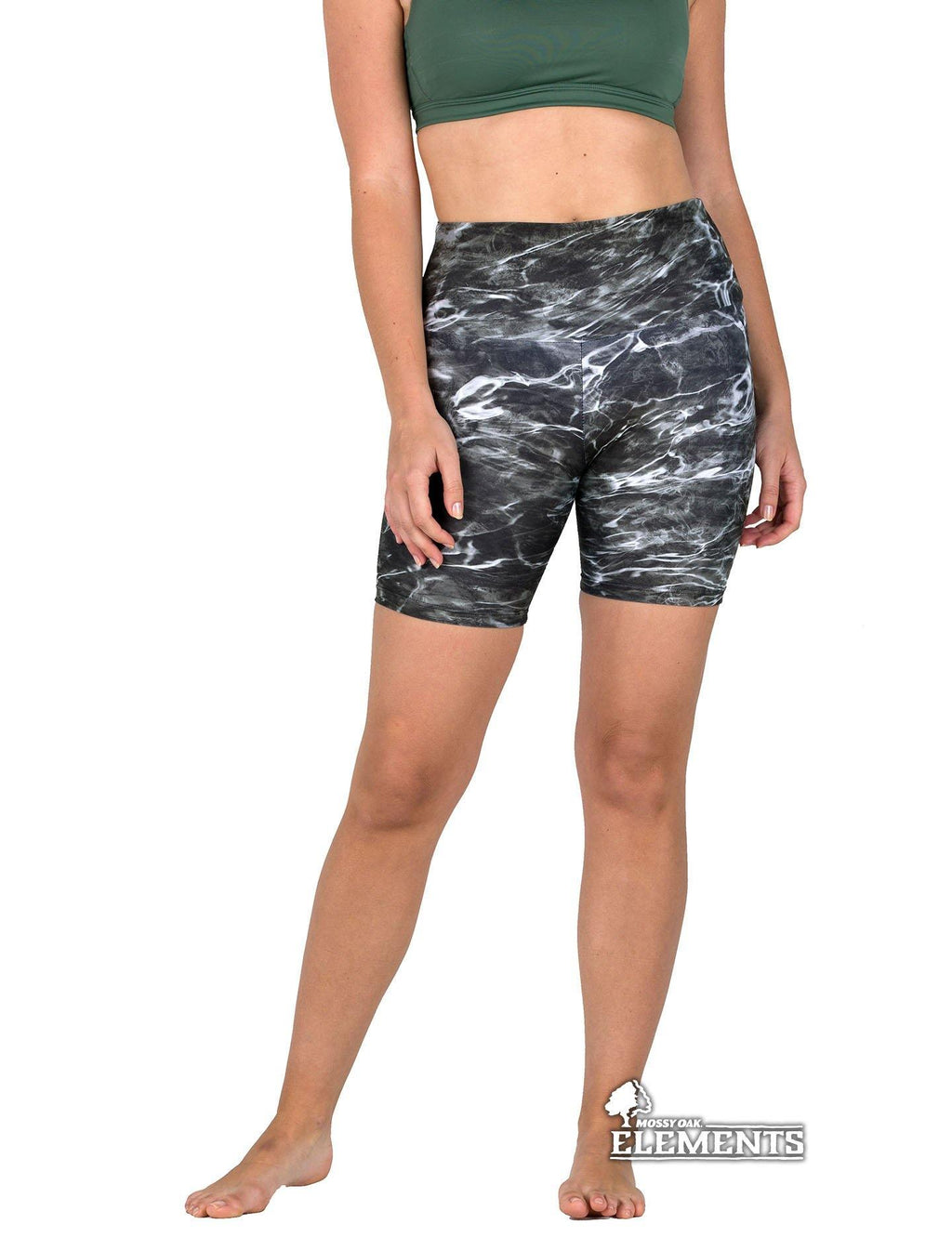 Apsara Shorts High Waist, Mossy Oak Elements Blacktip