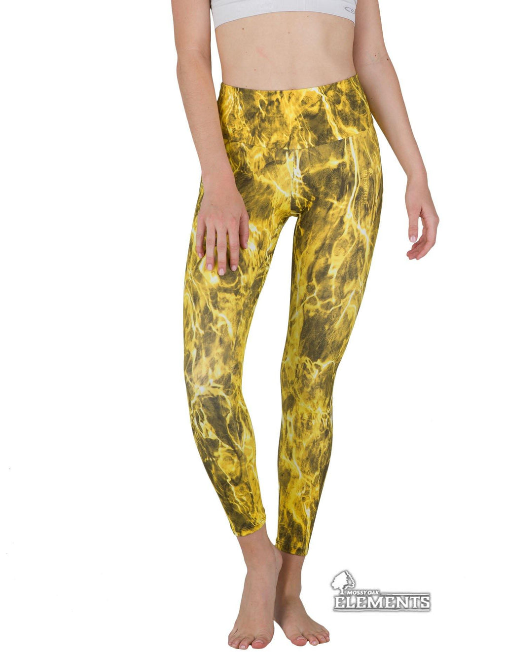 Apsara Leggings High Waist Full Length, Mossy Oak Elements Yellowfin