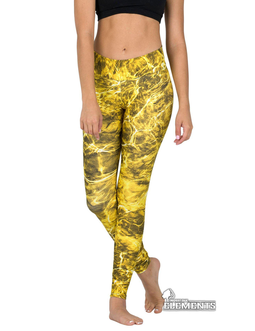 Apsara Leggings Low Waist Full Length, Mossy Oak Elements Yellowfin