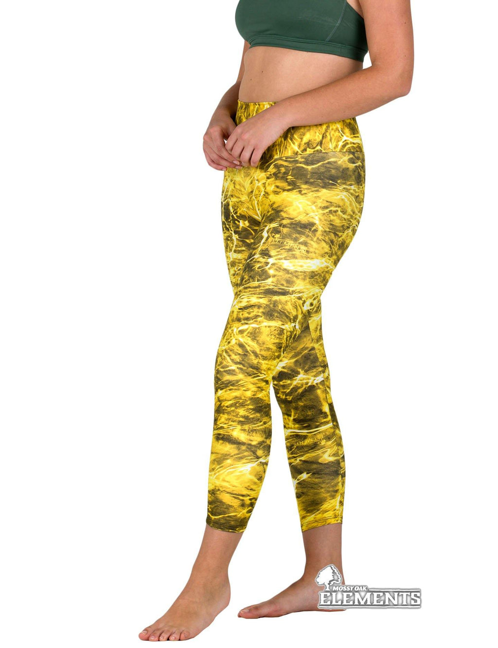 Apsara Leggings High Waist Cropped, Mossy Oak Yellowfin - Apsara Style