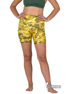Apsara Shorts High Waist, Mossy Oak Elements Yellowfin