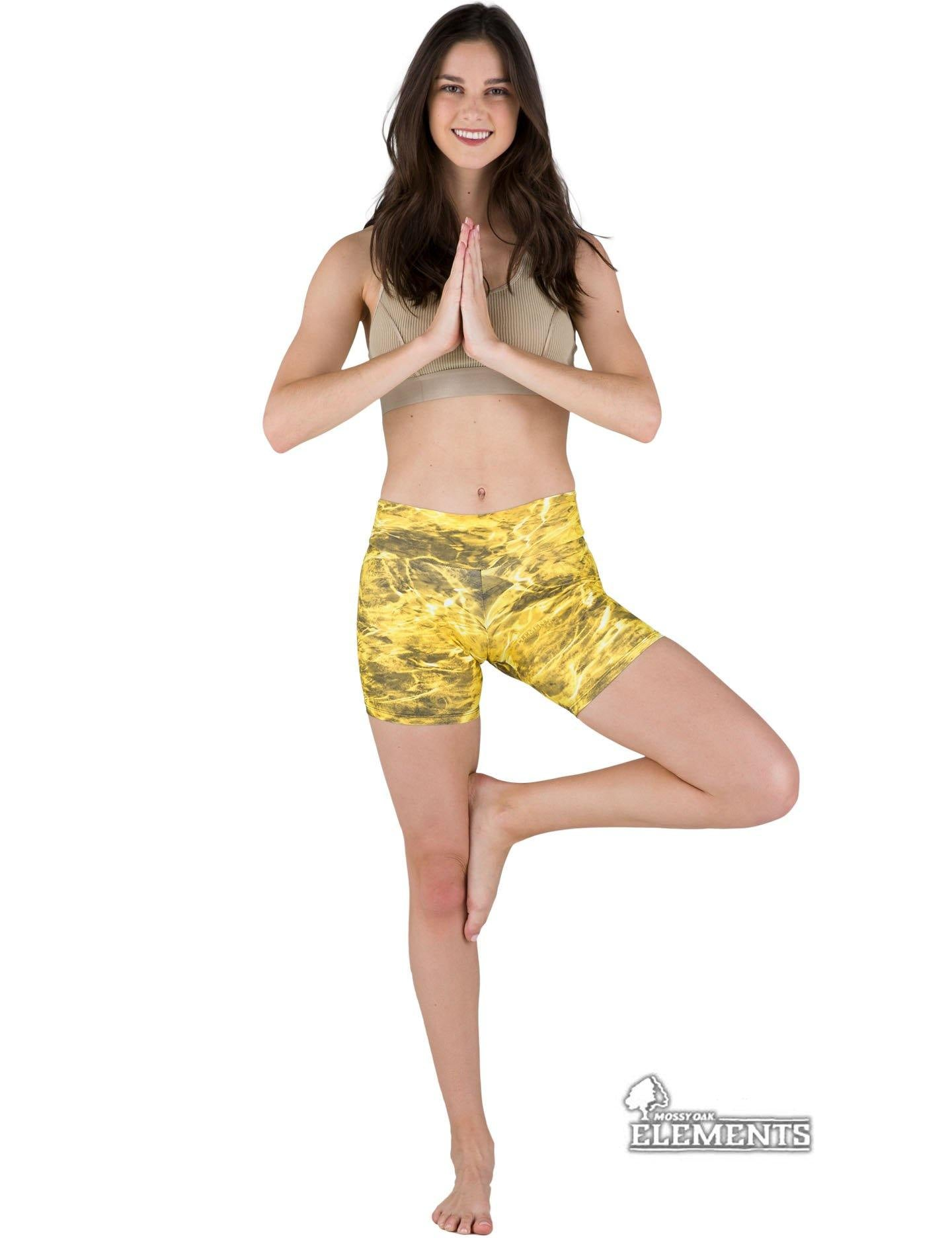 Apsara Shorts Low Waist, Mossy Oak Elements Yellowfin