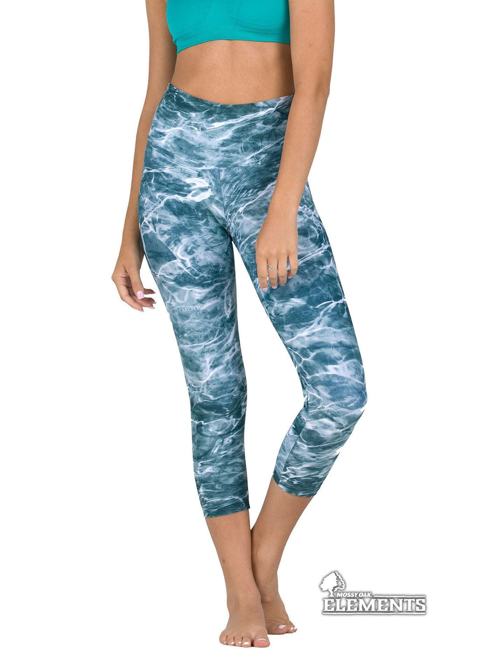 Apsara Leggings High Waist Capri, Mossy Oak Elements Spindrift