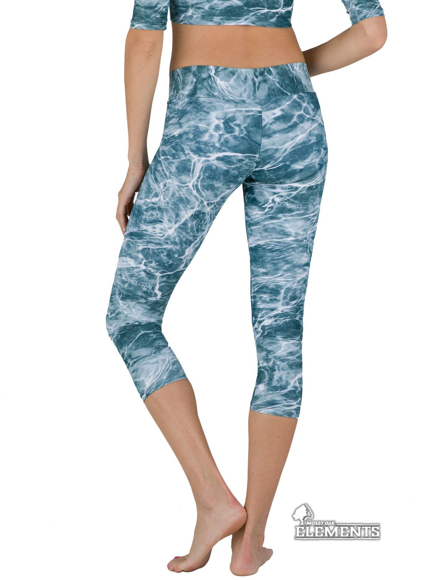Apsara Leggings Low Waist Capri, Mossy Oak Elements Spindrift