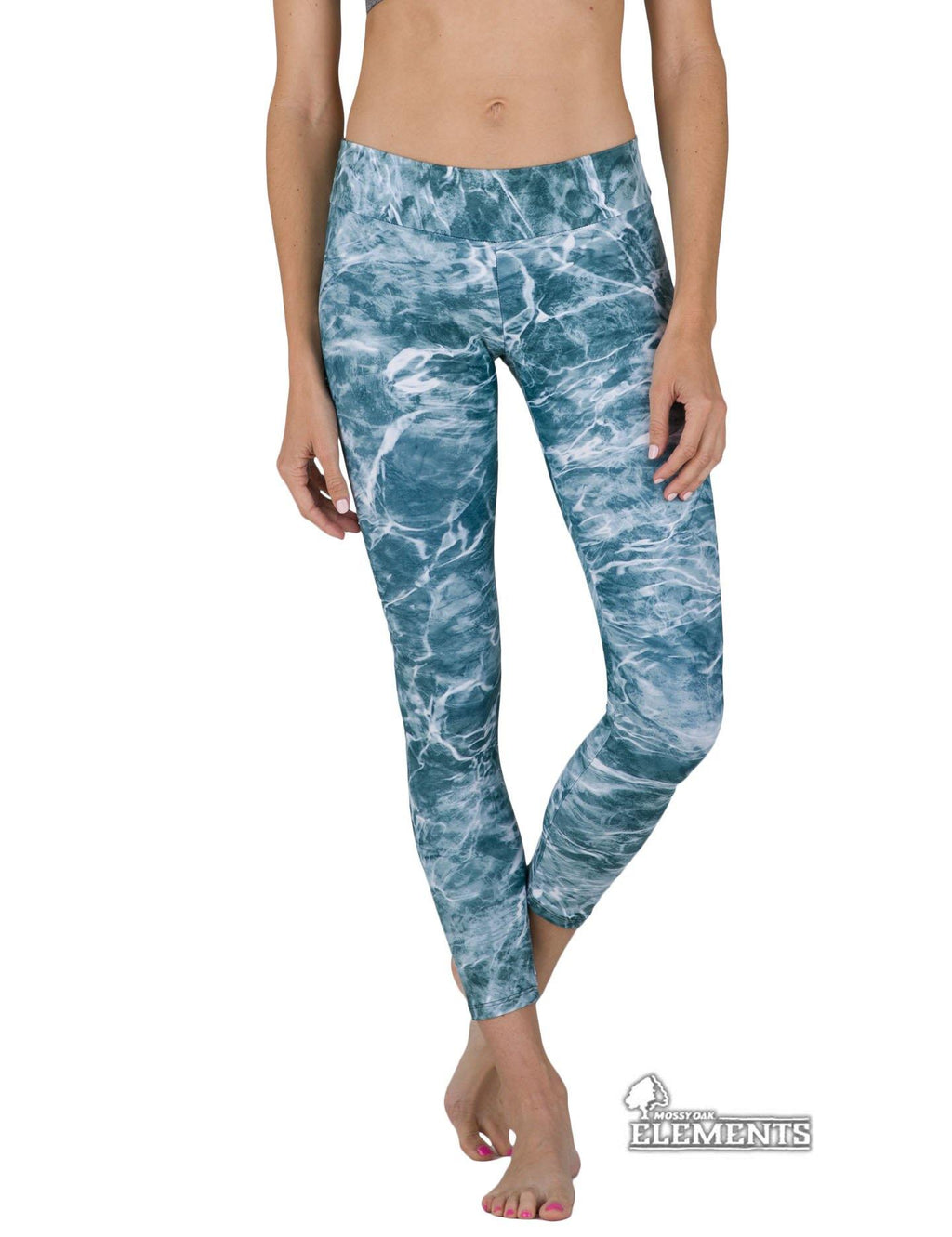 Apsara Leggings Low Waist Cropped, Mossy Oak Elements Spindrift