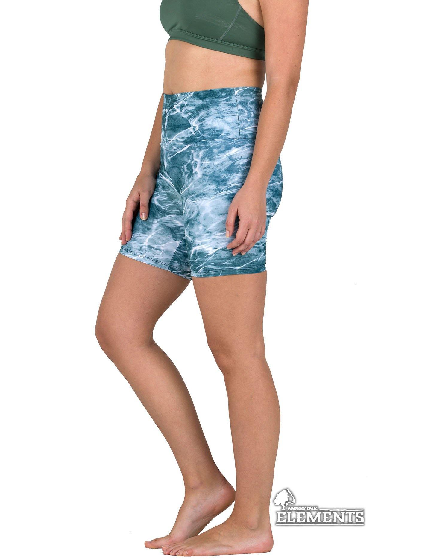 Apsara Shorts High Waist, Mossy Oak Elements Spindrift