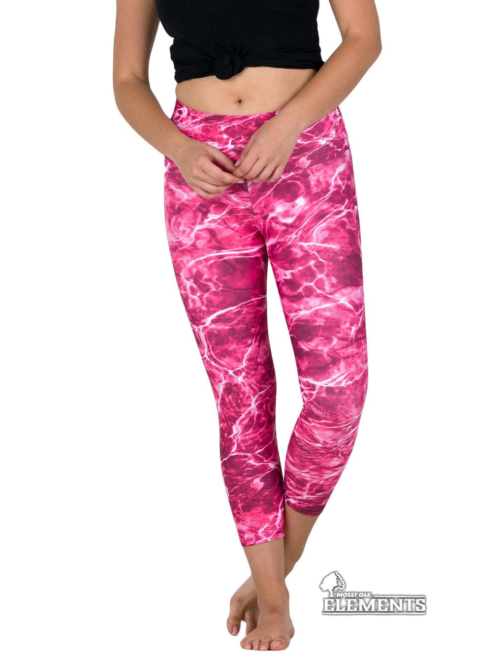 Apsara Leggings Low Waist Cropped, Mossy Oak Elements Anemone