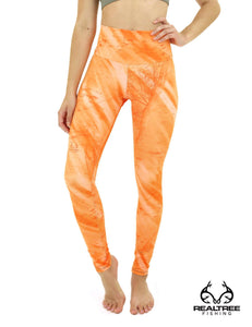 Apsara Leggings High Waist Full Length, Realtree Fishing Light Orange