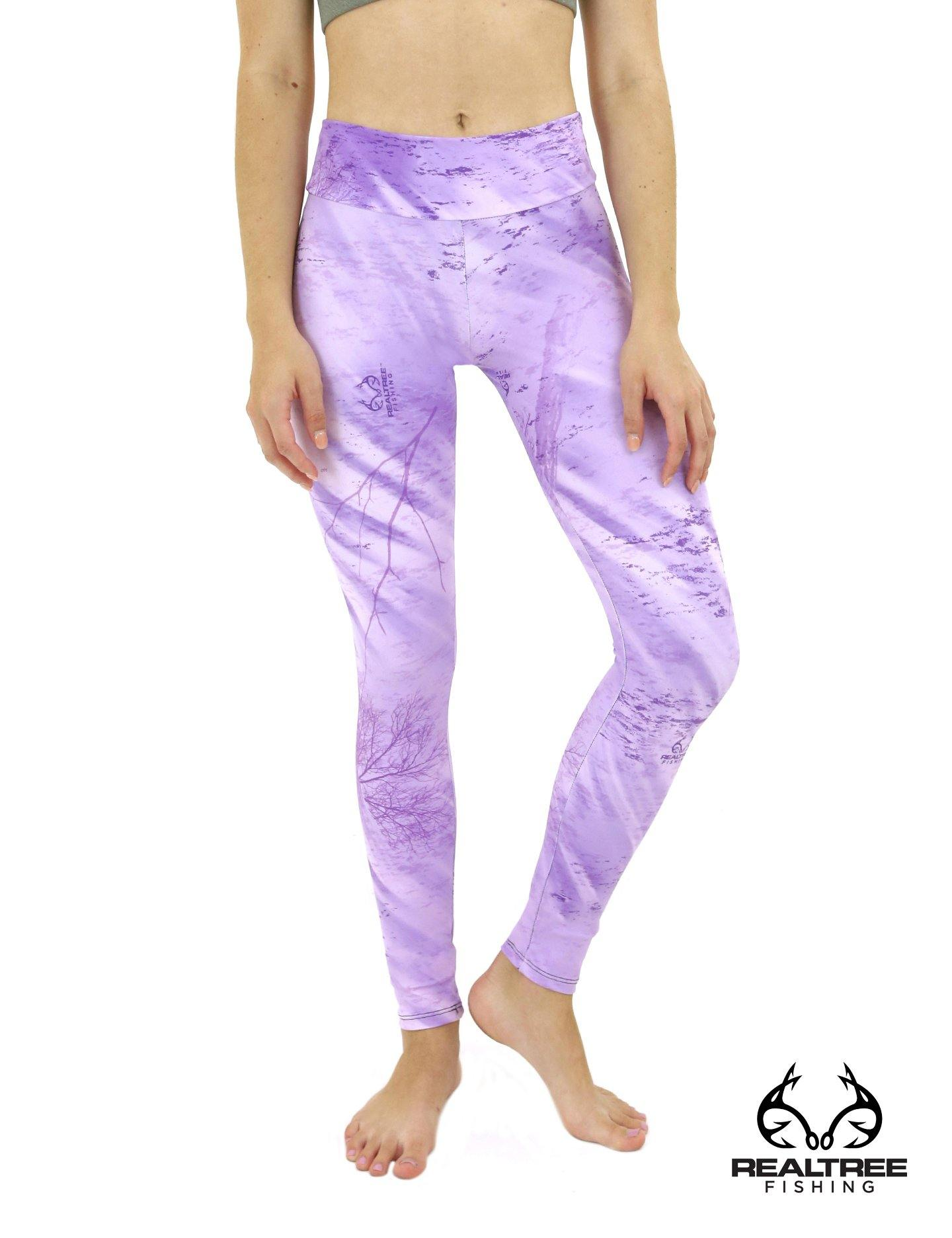 Apsara Leggings Low Waist Full Length, Realtree Fishing Light Purple