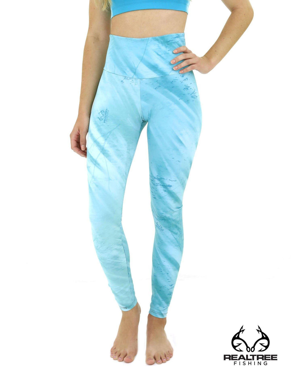 Apsara Leggings High Waist Full Length, Realtree Fishing Light Teal