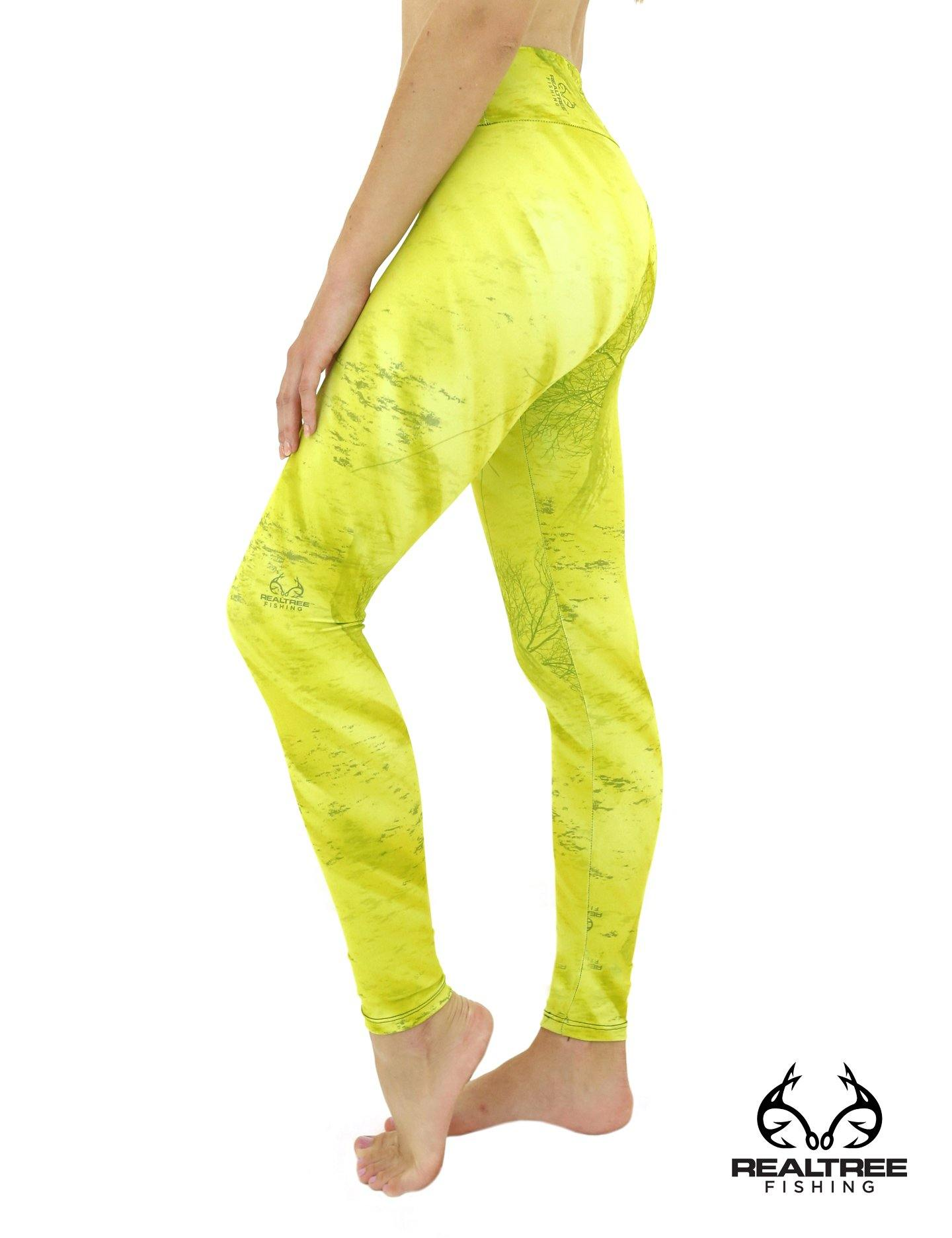 Apsara Leggings Low Waist Full Length, Realtree Fishing Light Lime - Apsara Style