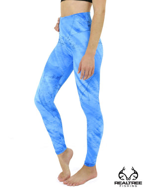 Apsara Leggings High Waist Full Length, Realtree Fishing Light Blue