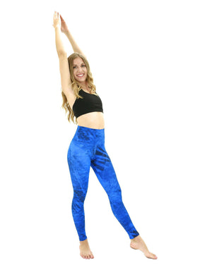 Apsara Leggings High Waist Full Length, Realtree Fishing Dark Blue