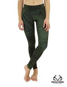 Apsara Leggings Low Waist Full Length, Realtree Fishing Black