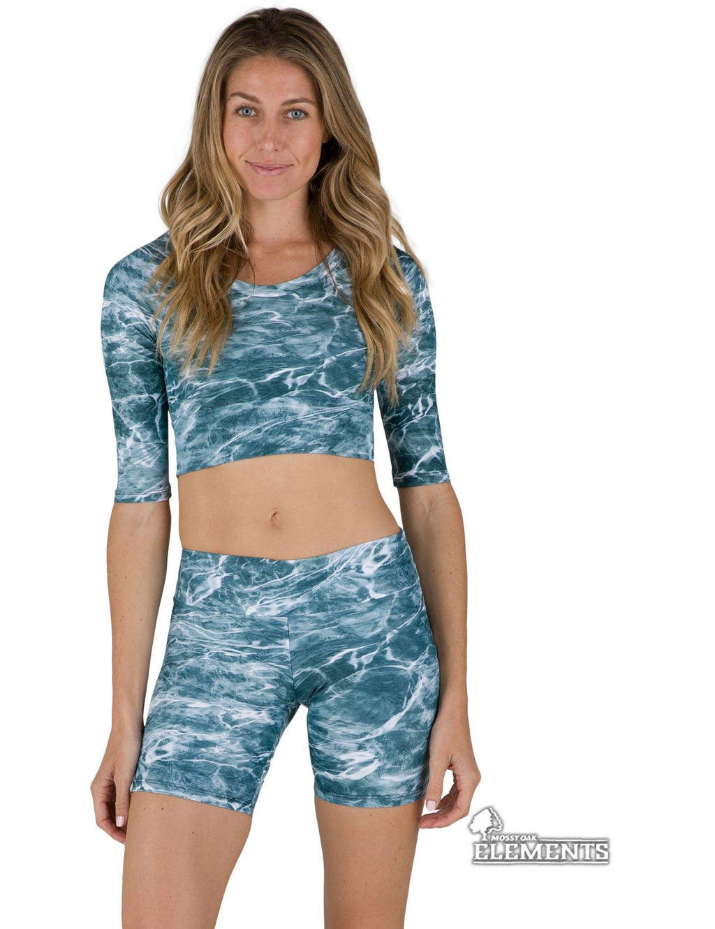 Apsara Cropped Top, Mossy Oak Elements Spindrift