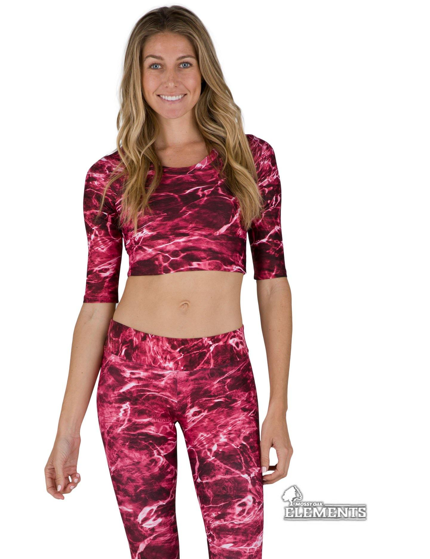 Apsara Cropped Top, Mossy Oak Elements Crimson