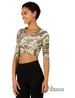 Apsara Cropped Top, Mossy Oak Elements Sandcrab