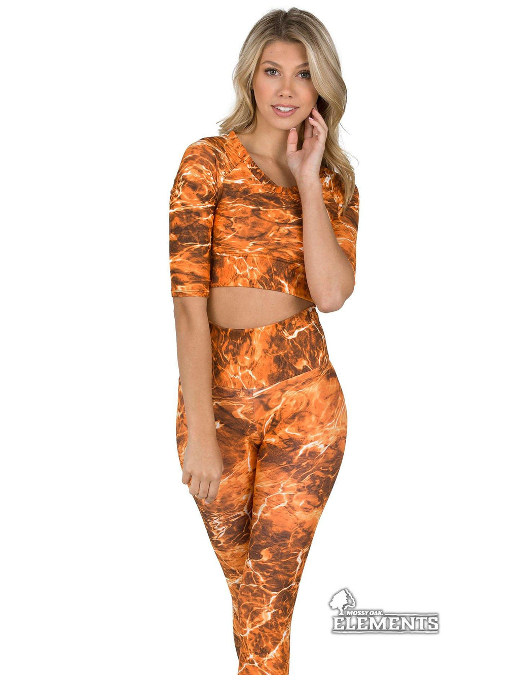 Apsara Cropped Top, Mossy Oak Elements Sunset