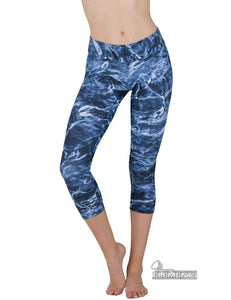 Apsara Leggings High Waist Capri, Mossy Oak Elements Bluefin - Apsara Style