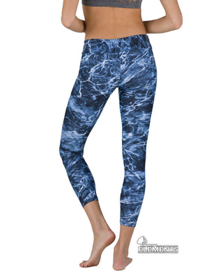 Apsara Leggings Low Waist Cropped, Mossy Oak Elements Bluefin