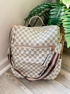 Checkered Convertible Backpack