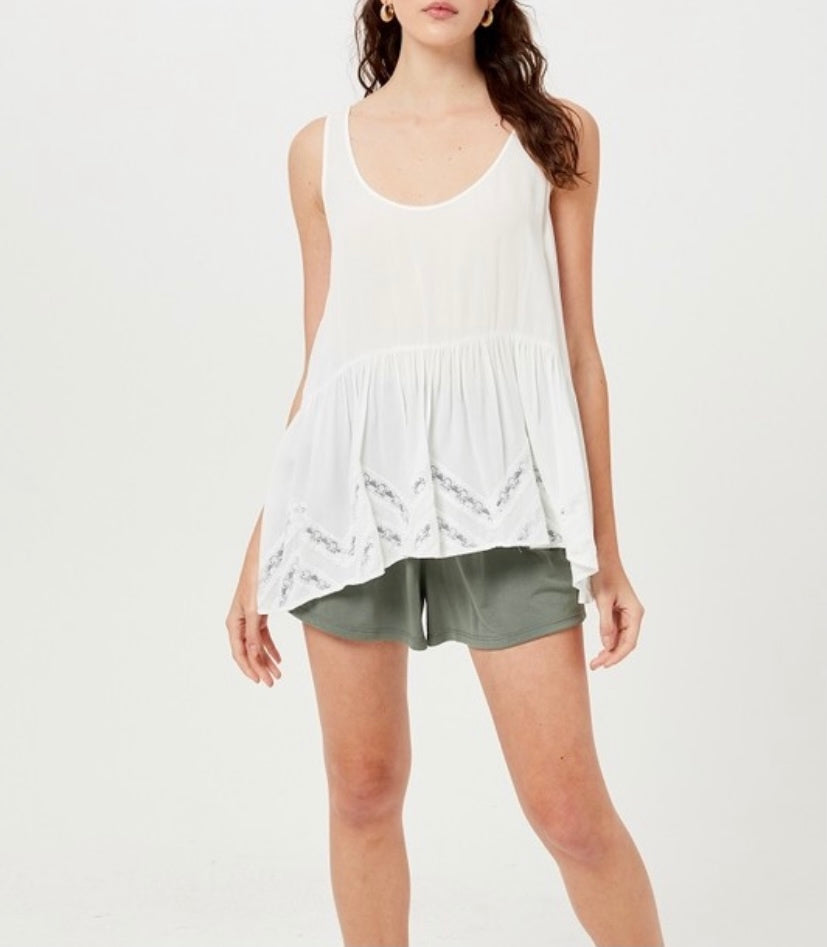 Lace Tiered Babydoll Top