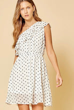 Load image into Gallery viewer, One Shoulder Polka Dot Dress