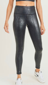 Glossy Shadow Snake High waist Leggings