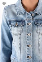 Load image into Gallery viewer, Zoey Light Wash Denim Jacket