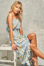 Load image into Gallery viewer, Tropical Ruffle Maxi Dress