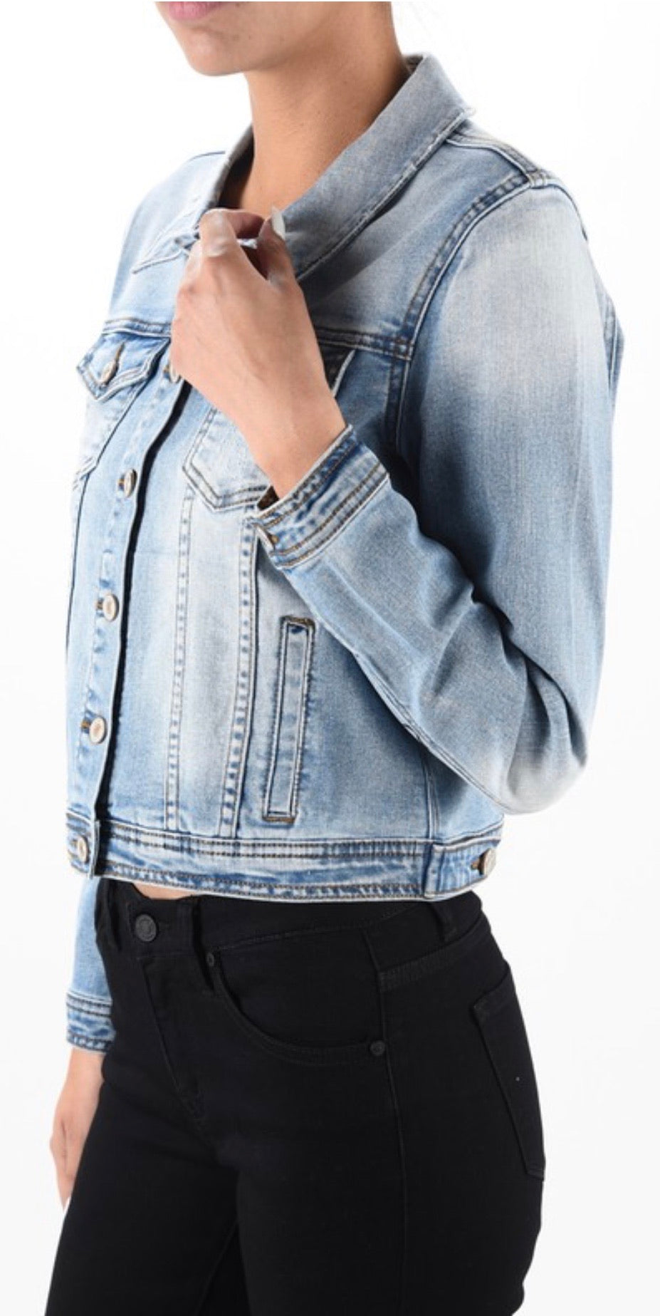 Zoey Light Wash Denim Jacket