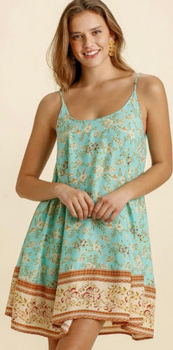 Mint Mix Floral Slip Dress