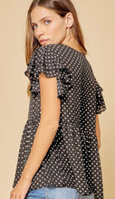 Load image into Gallery viewer, Polka Dot Babydoll Top