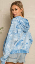 Load image into Gallery viewer, Blue Tie Dye Hoodie