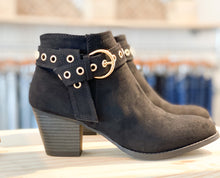 Load image into Gallery viewer, Morrison Suede Bootie with Buckle