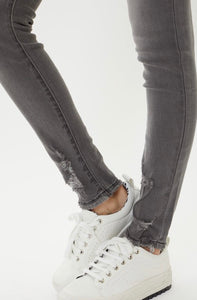 High Rise Grey Super Skinny Jeans